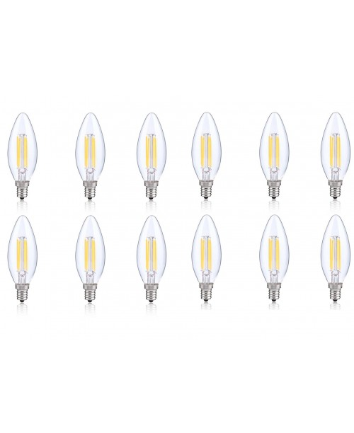 LONICERA SERIES LED FILAMENT BULBS 4 W AC 120 V 2700K WARM WHITE COZY LIGHT (12 pack)