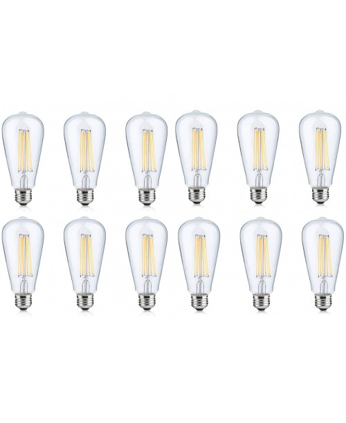 LONICERA SERIES LED FILAMENT BULBS 4 W AC 120 V 2700K WARM WHITE COZY LIGHT E-26 BASE( 12 PAck)