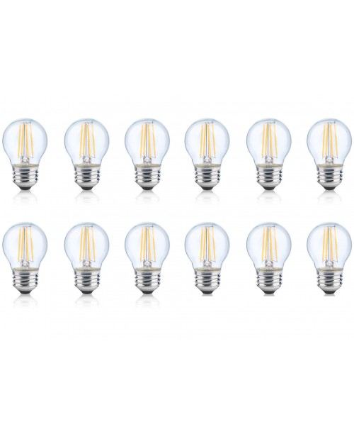 LONICERA SERIES LED FILAMENT BULBS 6 W AC 120 V 2700K WARM WHITE COZY LIGHT E-26 BASE A-19  (12 pack)