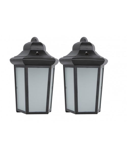 Black Cast Aluminium housing Frosted Glass 9W DOB (2 Pack)
