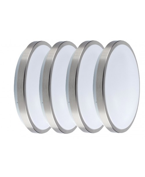 "11""  STAIN NICKEL CEILING FLUSH MOUNT SINGLE RING LED LIGHT 15 W 1050LM  4000K PMAA+STEEL DIMABLE  ( 4 pack  )"