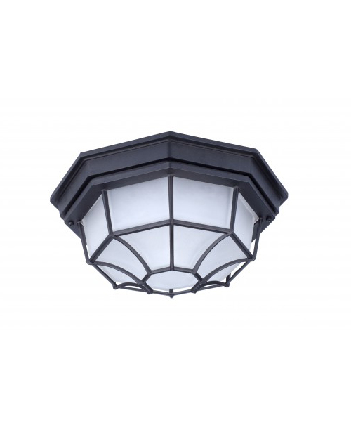 LED CEILING FIXTURE BLACK ALUMINUM HOUSING FROSTED GLASS 9 W DOB 3000K